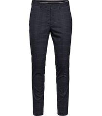 slhslim-mylostate flex bl chk trs b kostuumbroek formele broek blauw selected homme