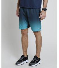 bermuda masculina esportiva ace com degradê e bolsos verde escuro