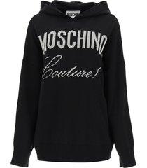moschino moschino couture lurex hooded sweater