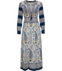 etro long dress with paisley mosaic print