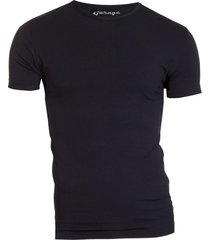 garage basis t-shirt ronde hals bodyfit zwart