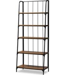 baxton studio ceren 5-tier living room ladder shelf