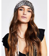 river island womens brown leopard print headscarf