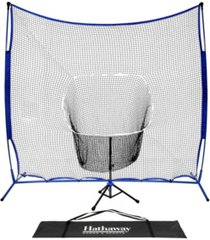 hathaway powerstroke baseball hitting net system with adjustable tee