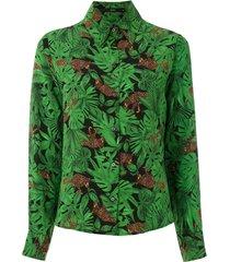 eva floresta silk shirt - green