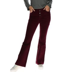 pantalon perry high waist flare burdeo cat