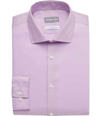 michael kors men's lilac slim fit dress shirt - size: 15 32/33