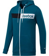buzo training reebok essentials linear logo hombre l 21831 verde