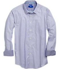 egara navy & white polka dot sport shirt