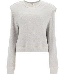 r13 sweatshirt with structured shoulders