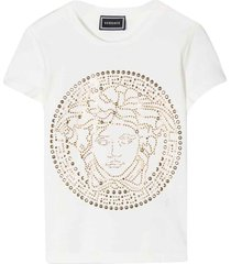 young versace white t-shirt with frontal press