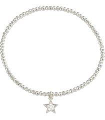 bracciale stella in metallo e cristalli in stile boho chic per donna