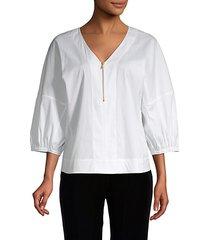 oversized three-quarter sleeve top