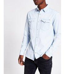mens jack and jones light blue denim shirt