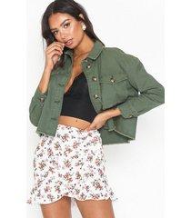 only onlmarina crop jacket pnt jeansjackor