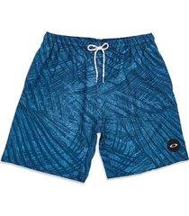 bermuda de banho o-palm 18 trunk shorts oakley azul