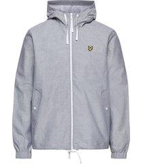 oxford hooded zip through jacket dun jack grijs lyle & scott