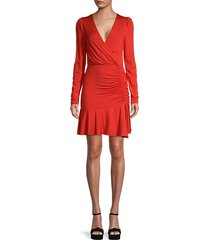 leonora ruched wrap dress