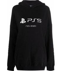 balenciaga playstation™ printed hoodie
