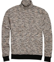 paisley & gray slim fit turtleneck sweater heathered brown