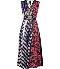 marc jacobs striped floral summer dress - purple