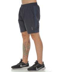 pantaloneta deportiva con licra interior, color gris oscuro para hombre