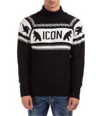 dolcevita maglione collo alto alto maglia uomo icon