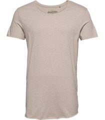 jjebas tee ss u-neck noos t-shirts short-sleeved beige jack & j s