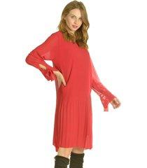 vestido manga lazo rojo bou's