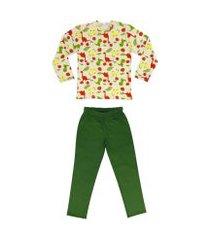conjunto de pijama de dinossauro douvelin verde