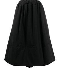 comme des garçons comme des garçons a-line pull-on midi skirt - black