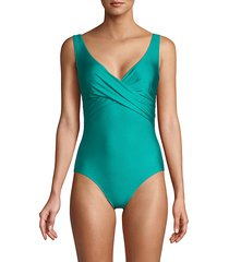 surplice one-piece swimsuit