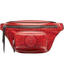 fendi pochete monogramada de couro - vermelho