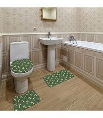 jogo de banheiro natal lhama verde único
