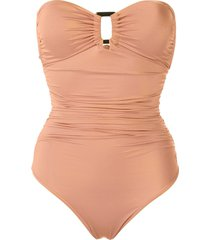 brigitte margareth draped swimsuit - neutrals