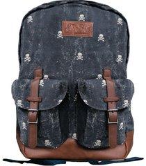 mc2 saint barth micro skull canvas backpack