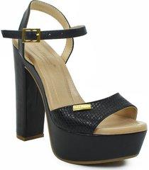 sandalias de tacón alto color negro 522c02negro
