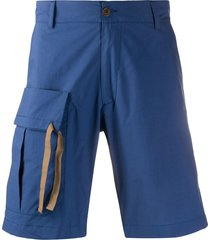 costumein flap pocket cargo shorts - blue
