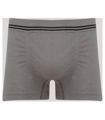 cueca masculina boxer sem costura cinza