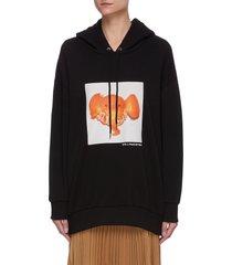 elephant tangerine print sweatshirt