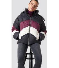 na-kd block padded jacket - black,multicolor
