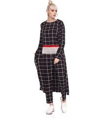 płaszcz w geometryczny wzór
