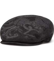 dolce & gabbana patterned beret - black