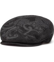 dolce & gabbana floral jacquard flap cap - black