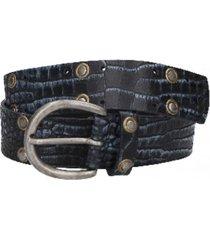 cinturón cuero azul marino zappa