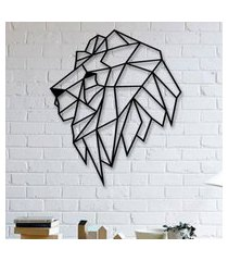 escultura de parede a laser leáo único