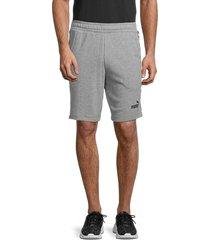 puma men's amplified sport shorts - grey - size s