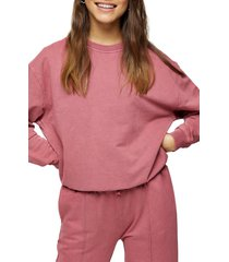 petite women's topshop acid wash sweatshirt