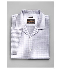 reserve collection tailored fit check camp shirt - big & tall