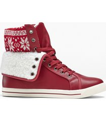 sneaker alte (rosso) - bpc bonprix collection